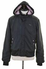 PUMA Womens Padded Jacket UK 12 Medium Black Vintage F010