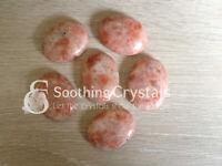 1 Pc Sunstone Worry Stone Crystal Palm Stone Thumb Stone Pocket Stone