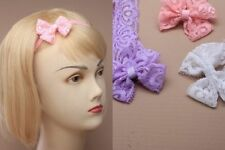 Unbranded Lace Bow Hair Accessories for Girls