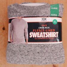 "Bridgeport Fleece-Lined Crewneck Sweatshirt, Small (34""-36""), Grey Heather, BNWT"
