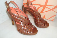 Via Spiga Womens NWB Phoebe Tobacco Leather Sandals Shoes 6 MED NEW