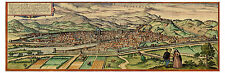 Florence Tuscany Italy bird's-eye view map Braun Hogenberg ca.1572