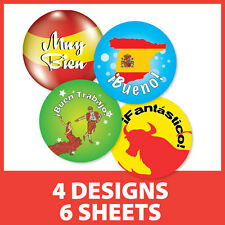 Spanish Language Theme Reward Stickers Schools Teachers Learning Children Praise