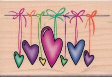 Hearts on Strings 56442  INKADINKADO RUBBER STAMP ~ w/m  free shipping  NEW
