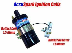 AccuSpark Back  Ballast  Ignition coil + 1.5 ohm Ballast Resistor