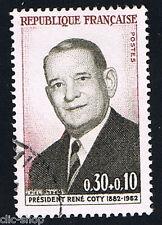 1 FRANCOBOLLO FRANCIA PRESIDENTE RENE COTY 1964 usato