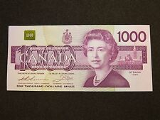 1988 $1000 DOLLAR BILL BANK NOTE CANADA BIRD SERIES EKA1862228 EF-AU GRADE