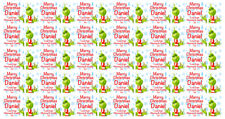 Grinch Christmas Gift Wrapping Paper Personalised with any message