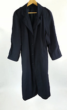 Womens Navy Blue Military Fully Lined Trench Coat Size 8 R Made in USA