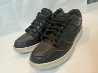 Nike Dunk Low Black/Black/White Men's Size 13 Leather Skate Shoe 904234-003