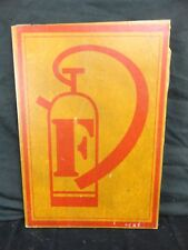 "Vintage WOODEN FIRE EXTINGUISHER SIGN 15"" x 10"""