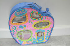 Littlest Pet Shop LPS Carrying Vinyl Travel Case for Pets Blue Storage House