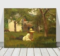 """WINSLOW HOMER - The Nooning - CANVAS ART PRINT POSTER - 32x24"""""""