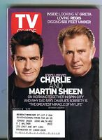 TV Guide Magazine March 2-8 2002 Charlie Martin Sheen EX w/ML 101216jhe
