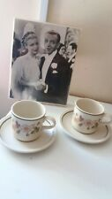 Vintage M&S AUTUMN LEAVES 2 tea cups and saucers Ex Condition