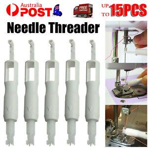 1-15X Needle Threading Threader Sew Inserter Applicators For Sewing Machine Tool