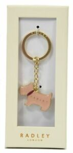 Radley Pageant Blush Keyring Scottie dog Bag charm Keyring New Boxed