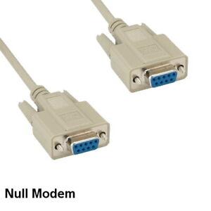 Kentek 6 ft Null Modem DB9 Serial Cable Female to Female RS-232 Data