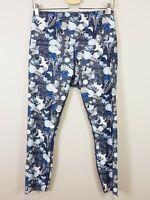 LORNA JANE | Womens Floral / Bird Print Leggings [ Size L or AU 14 / US 10 ]