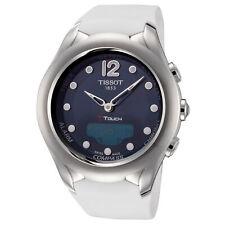 Tissot Women'S T0752201704700 T-Touch Solar 39.5 мм синий циферблат силиконовые часы