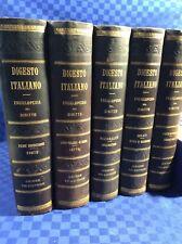 Digesto Italiano: Enciclopedia Del Diritto - UTET 1890 - 1908