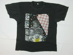 Vintage Lisa Lisa Cult Jam Spanish Fly Tour 1987 Mens T Shirt Size L Made in USA