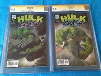 Hulk Smash #1-2 set - Marvel - CGC SS 9.8 - Signed by Garth Ennis