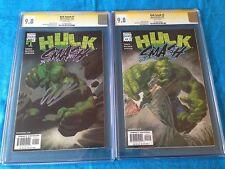 Hulk Smash #1-2 set - Marvel - CGC SS 9.8 - Signed by Garth Ennis
