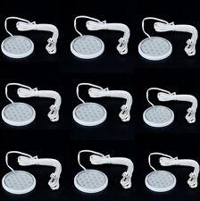 9x LED Unterbauleuchte Set Schrankbeleuchtung Anbauleuchte Regale Vitrine TV