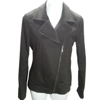 Ellen Tracy Women Size 8 Casual Jacket Blazer Brown Long Sleeve Full Zip 05031