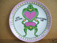 "Sherbet Taste Setter ""Love Is A Chair At A Gourmet Fair"" 7.5"" Plate"