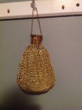 Vintage Gold Weaved Expandable Beggars Purse Evening Bag