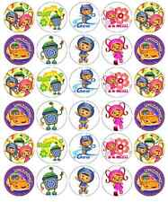 30 X Equipo Umizoomi Magdalena Toppers Comestible Oblea Papel Hada Cake Toppers