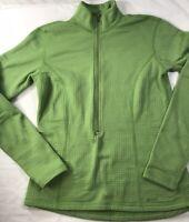Mountain Equipment Green Fleece Jacket Ladies Small Zippered