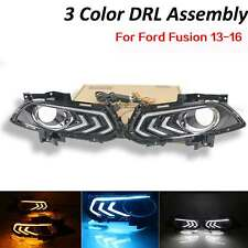 3Color LED DayTime Running Fog Driving Light Replacement For Ford Fusion 13-16