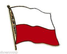 Poland National Flag Gold Plated Courtesy Enamel Lapel Pin Badge