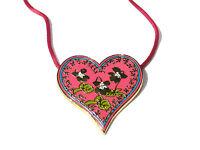 Bijou alliage doré collier créateur pendentf  coeur Sisley Paris necklace