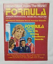 Formula Magazine -- 1976 Driving Excellence Awards January 1977 Vol. 4 No. 1