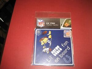 NFL INDIANAPOLIS COLTS Lil Fan on Board Signs WINDOW CLING  BRAND NEW