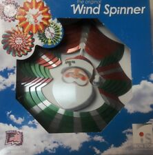 Vintage The Original Wind Spinner Santa New In Box Christmas Holiday Outdoor