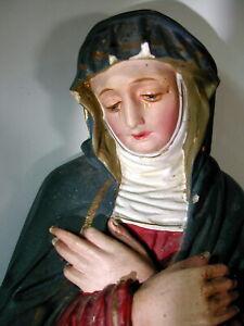 Antik HeiligenFigur Heilige Rita v.Cascia Gips Statue christlich Maria 42cm hoch