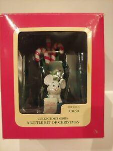 VINTAGE 1990 Carlton Cards Heirloom Ornament  A Little Bit Of Christmas *EUC*