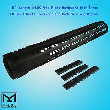 """M-LOK 15"""" Ultralight Free Float Handguard Forend For 5.56/.223 Black US SELLER"""