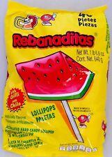 Rebanaditas Watermelon Lollipop con chile 40 count