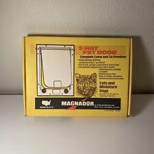 Magnador 2-Way Pet Door For Cats & Dogs Brand New