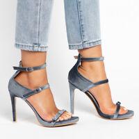 Women Roman Gladiator Sandals Ankle Strappy High Heel Stilettos Party Dress Shoe