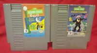 Sesame Street 1 2 3 Countdown Lot Nintendo NES Game Rare Tested Works Authentic
