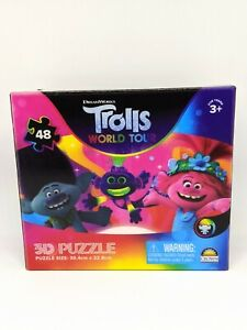 Trolls World Tour 3D Jigsaw Puzzle 48 Piece DreamWorks Ages 3+ Kids Sealed NEW