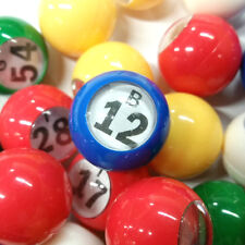 Bingo Balls - Multi-Colored Windowed Bingo Balls (1-75) 7/8 Inch (GM-9-15379)