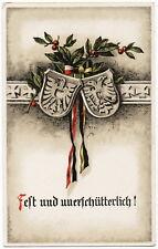 """K.u.k. Postkarte - """" Fest und unterschütterlich """" - 1916"""